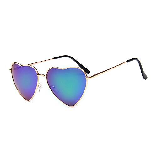 DIYOO Retro Herzform Sonnenbrille Mode Sonnenbrille Vintage Look Sonnenbrille männer Frauen Unisex Klassische Brillen grün a