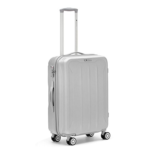R Roncato Flight 4R Trolley 66 cm, Argento