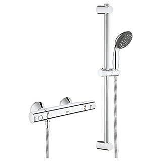 Grohe Vitalio Start –  Sistema de ducha con termostato,  teleducha y barra de ducha, acabado cromado (Ref. 34597000)