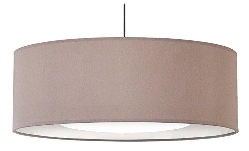Tosel 14881alfena 600D Hängeleuchte Stoff/Baumwolle/PVC 600x 900mm, Taupe/Weiß, 600 x 900 mm