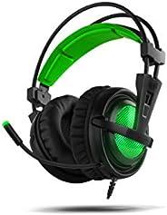BG Xonar-X6 Stereofonico Padiglione auricolare Nero, Verde auricolare - Cuffie audio (Console di gioco + PC/gi