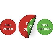 DRÜCKEN und ZIEHEN Aufkleber Sticker Türschild Warnschild