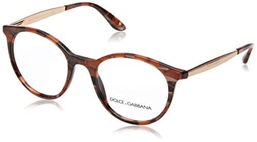 Dolce Gabbana Damen 0DG3292 Optische Rahmen, Braun (Cube Bronze), 50