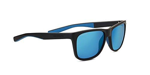 Serengeti Eyewear Erwachsene Livio Sanded Black/Blue, Medium