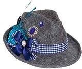 Orlob Hut Hannerl grau-blau zu Tracht Kostüm Oktoberfest Karneval Fasching