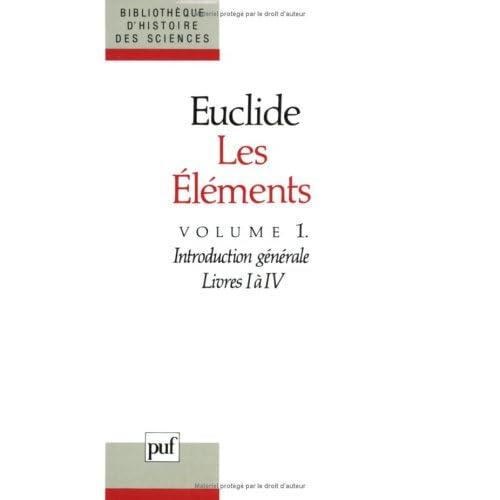 LES ELEMENTS. Tome 1