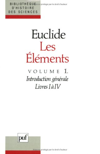 LES ELEMENTS. Tome 1