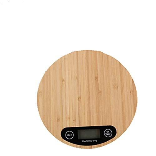 Material: bambú + ABSColor marrónTamaño: aprox. 23 * 16 * 2.2cm / 9.05 * 6.29 * 0.86inPeso: 380 gramos.Batería: 2 pilas AAA (sin batería)Material del producto: la escala es el bambú ecológico original, la base es piezas de plástico ABSMáquina de conm...