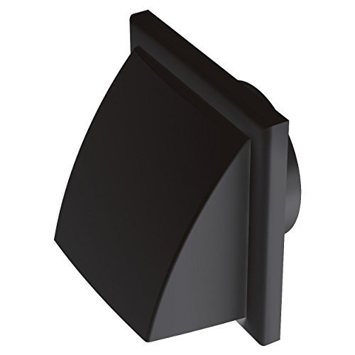 Blauberg Reino Unido Decor 185x 185/150hk negro 150mm 15,24cm conductos redondos de plástico y accesorios para ventilador Extractor ventilación–negro