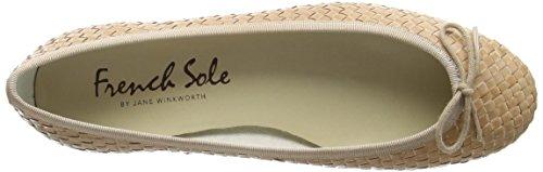 French Sole Henrietta Woven Leather, Ballerine Donna Beige (Beige (nudo))