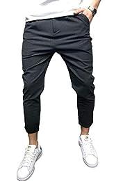 38d85bcec5e1 Männer-Beiläufige Jogger-Hosen-Knöchel-Längen-Gerades Bein-Bequeme  Normallack