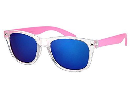 Alsino Kinder Sonnenbrille Verspiegelt 'Junior' für Mädchen & Jungen, Gläser in Optiker-Qualität (K-107), Farbe: Rosa - 12 cm Bügellänge