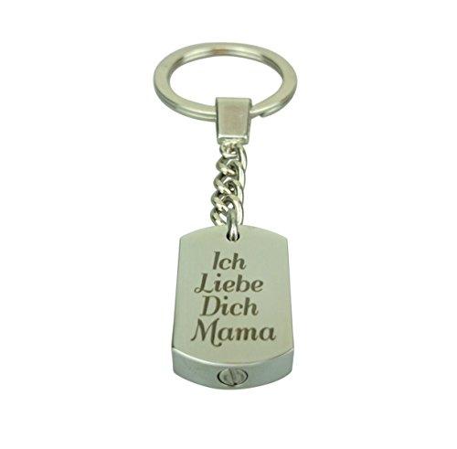 Ich Liebe Dich Mama Urne Schlüsselanhänger – Gedenk Asche Andenken – Feuerbestattung Schmuck