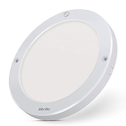 Albrillo 18W LED Ceiling Lights with Motion Sensor, Flush Ceiling Light Fittings for Living Room, Bedroom, Bathroom, Hallway, 4000K Daylight White, 1300LM