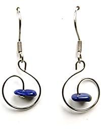 Joyería, pendientes, lapislázuli, lapislázuli, apetece pendientes de piedra de joyería pendiente aywin natural
