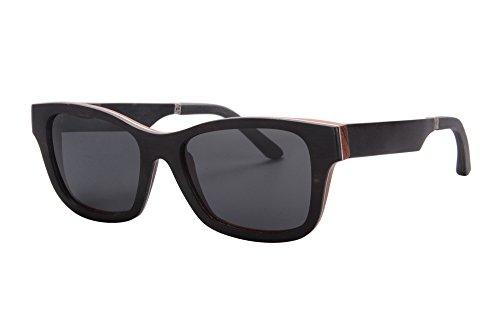 SHINU Handgefertigte Holzbrillen Polarisierte Holz Sonnenbrillen mit Holzrahmen und Tempel-Z6069