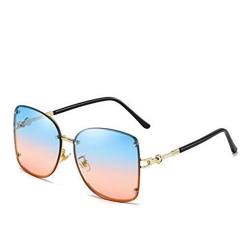 YIWU Neue Damen-Sonnenbrille Europäische und Amerikanische Trend Metal Square Sonnenbrille (Color : 6)