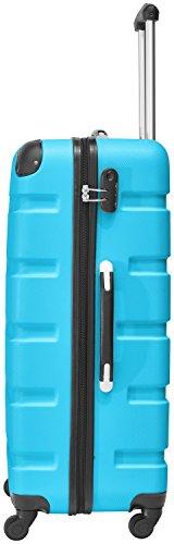 Packenger 3er Koffer-Set Marina Trolley-Set Hartschale (M, L & XL) in Blau/4 Gummi Rollen (360°)/Koffer mit Zahlenschloss/stabiler eleganter Alltags Rollkoffer & Reisekoffer/Material: ABS/Farbauswahl - 4