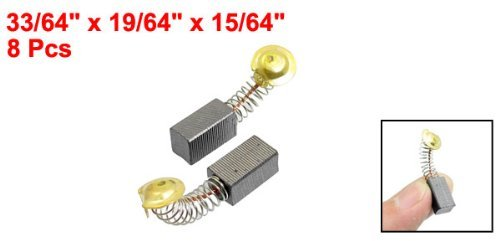 DealMux 8 piezas Spring Tipo de motor escobillas de carbón 33/64 x 19/64 x 15/64 para Hitachi 100 amoladora angular