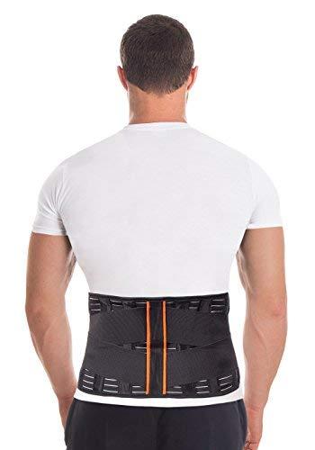 Cintura lombare di sostegno - Fascia Schiena Elastica Lombare - Cintura lombare terapeutica-4 rigide stecche Taglia Small pancia 86-95 cm