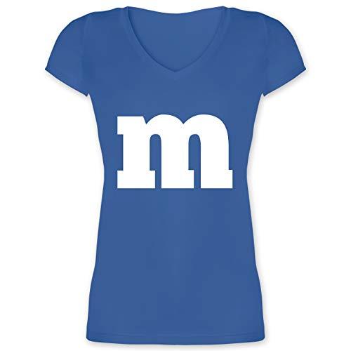 Karneval & Fasching - Gruppen-Kostüm m Aufdruck - M - Blau - XO1525 - Damen T-Shirt mit - Karneval Kostüm Hersteller