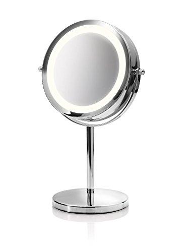 Medisana CM 840 Kosmetikspiegel 88550, beleuchtet mit 5-facher Vergrößerung und 360°...