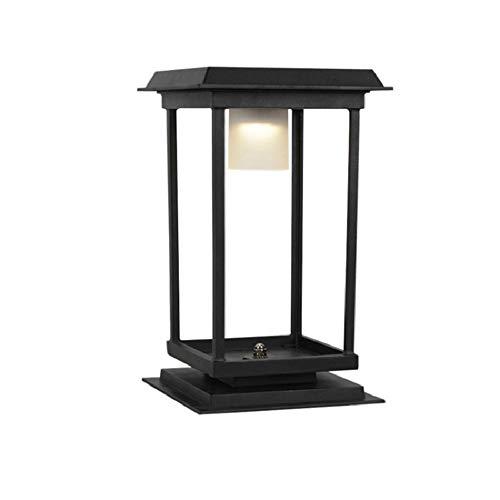 Moderne Quadrat Solar Energy LED Außen Türpfosten Licht Haushalt Garten Wasserdicht IP55 Säule Licht Für Einfahrten Terrassendielen Grenzen Patios Stehlampe