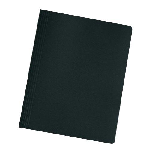 Herlitz 11130325 Schnellhefter A4 Karton gefaltet schwarz intensiv 10er Packung