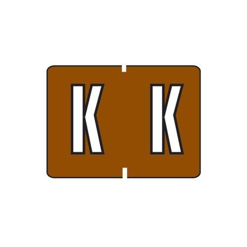 Smead A-Z color-coded etiquetas, K, marrón, 252etiquetas por paquete (22031)