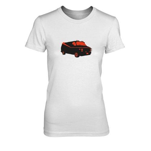 Team Van - Damen T-Shirt, Größe: XL, Farbe: weiß