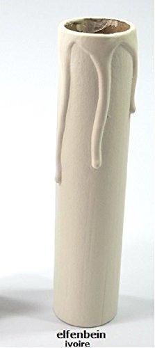 fourreau carton - 120mm / 24mm - couleur ivoire - décor bougie - E14