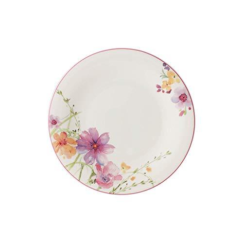 Villeroy & Boch - Assiette de Petit-Déjeuner Mariefleur Basic, Assiette Ronde au Décor Floral en Porcelaine Premium, Compatible Lave-Vaisselle, 21 cm