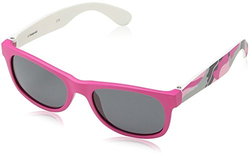 Polaroid Junior P0300F TCSY2 Pink Camouflage P0300F Wayfarer Sunglasses Polarised Lens Category 3