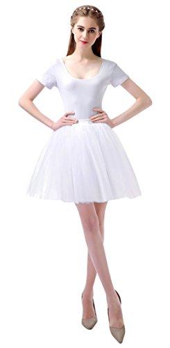 Feoya 50er Vintage Tutu Rock Tüllrock Damen Mädchen Kurz Ballett Tanzkleid Blase Multi-Schichten Petticoat Unterrock Faschings Kostüm