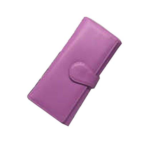 WU Zhi Lady In Pelle Borsa A Mano Portafogli Portamonete Purple
