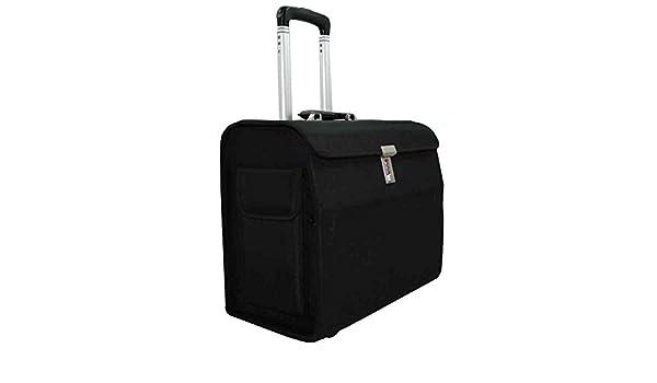 b9da4c630fe Alassio Mondo Trolley Pilot Case Laptop Compartment Nylon Black Ref 45033-1   Amazon.co.uk  Office Products