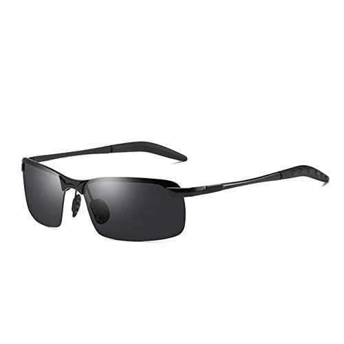 CCGSDJ Photochrome Sonnenbrille Männer Polarisierte Verfärbung Sonnenbrille Für Männer Randlose Platz Auto Sonnenbrille Für Fahren Schatten