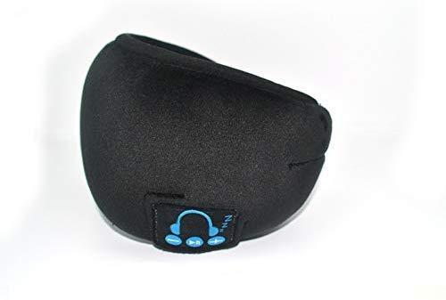 Cherish Schlaf Kopfhörer Wireless Bluetooth Schlafen Augenmaske Kopfhörer Bluetooth Schlafmaske Reise Ösen Farbtöne mit Eingebautem Lautsprecher Mikrofon Hände Frei - Schwarz