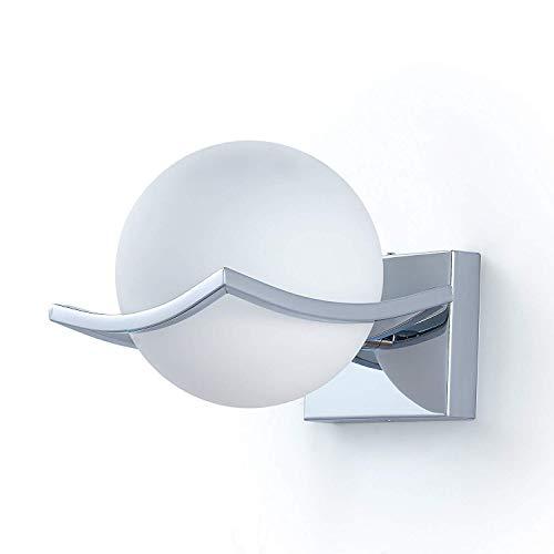 Daxgd led luci sfera di vetro lampade da parete, applique da parete interno per camera da letto, soggiorno, corridoio