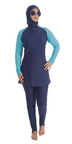 Beco Tesetto Door Hijab - Traje de baño para Mujer, Mujer, 5722, Navy-Blue, Large