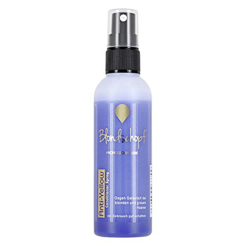 BLONDSCHOPF ANTI-YELLOW SPRÜHKUR 100ml | Neutralisiert unerwünschte Gelbtöne | Purple Conditioner Spray - keine lila Hände wie bei Silber Shampoo oder Spülung