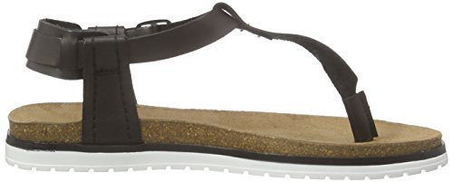 ESPRIT - Moraira Sandal, Scarpe col tacco con cinturino a T Donna Nero (Nero (001 Black))