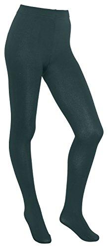Piarini Thermostrumpfhose Damen - Strumpfhose mit Innenfleece extra warm blickdicht - Winter Herbst petrol 36-38 -