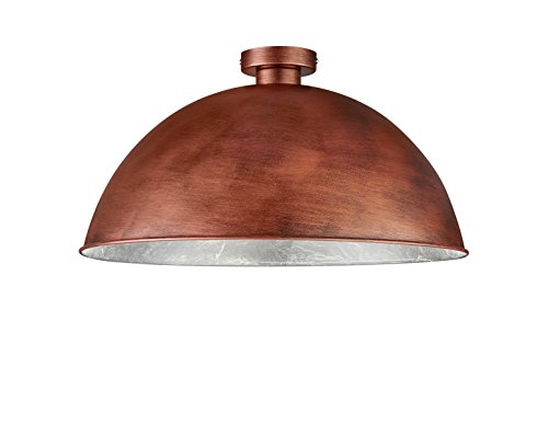 Khl LED Deckenlampe Retro Emil Kupferfarbig/Innen silberfarbig 51cm E27 60W KH60801062
