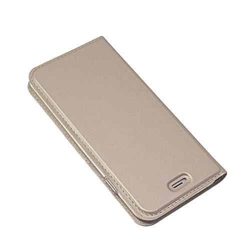 DENDICO Cover per Apple iPhone 6 Plus/iPhone 6s Plus, Portafoglio Libretto Bumper Portafoglio Custodia, Magnetica Flip Custodia Caso Libro e TPU Silicone con Funzione Supporto - Oro