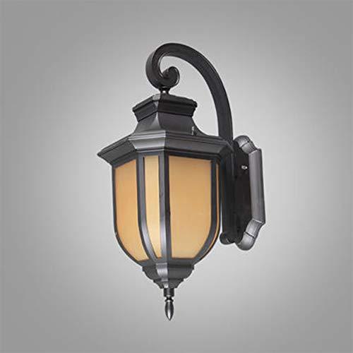Fünf-licht-leuchter-glühlampen (ZNMY Amerikanische unbedeutende Wand-Laterne im Freien wasserdichte Wand-Laterne LED-Leuchter-dekorative Lichter Befestigungen für Hof-Garten-Balkon-5-watts)