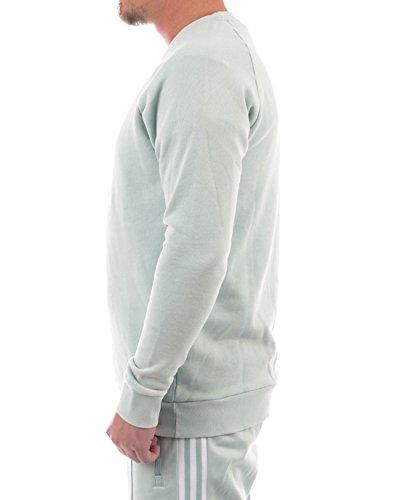 adidas Herren Trefoil Crew Sweatshirt, Schwarz Ash Green