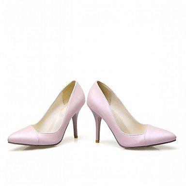 Talloni delle donne Primavera Estate Autunno Dress Comfort in similpelle ufficio & carriera Stiletto Heel Casual Nero Rosa Bianco Black