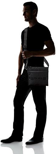 BOSS Green Hommes sac à bandoulière pixel_b Noir Noir (Black)