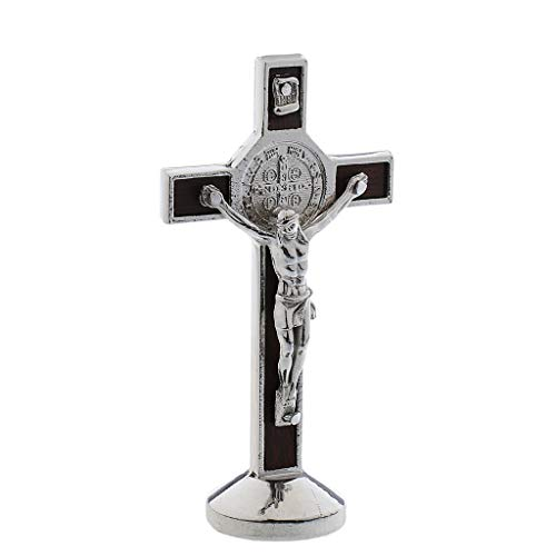 MagiDeal Christus Jesus Kreuz Kruzifix Figur - Silber